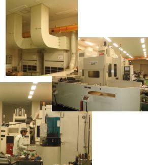 恒温室設備と加工機